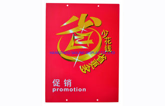PVC Plastic Price Sign Board , Price Display Board For Supermarket Promotion