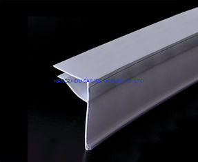 China Custom Supermarket Plastic Shelf Data Strips Label Holder , White supplier