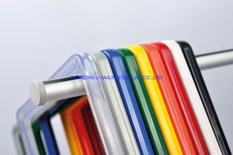 China ABS Plastic Pop Display Frame Stand , Plastic Snap Frames In Red Yellow Blue supplier