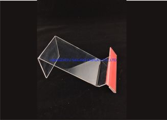 Clear Acrylic Table Top Sign Holders , Card Display Holder