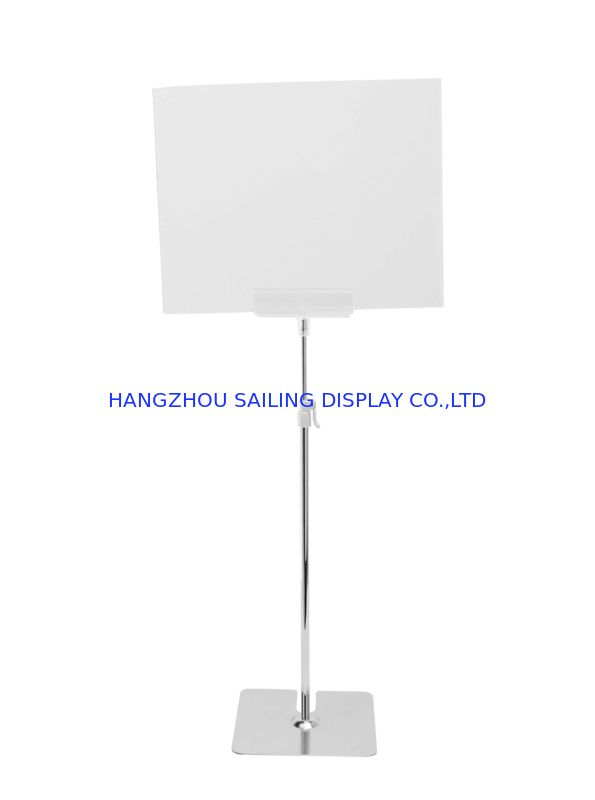 Free Standing POS Sign Holder For A3 Or A4 Floor Sign Holders 1100-2100mm supplier