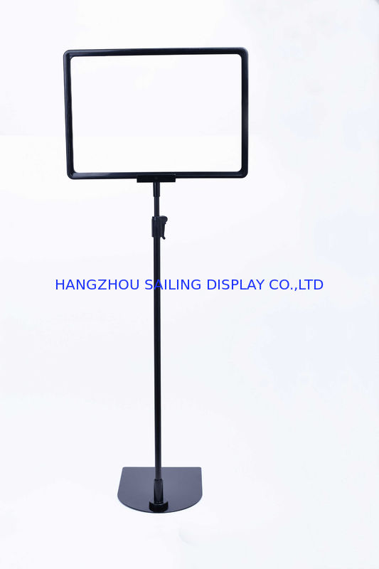 Plastic Advertising Display Snap Frame / Poster Board Stand With ...