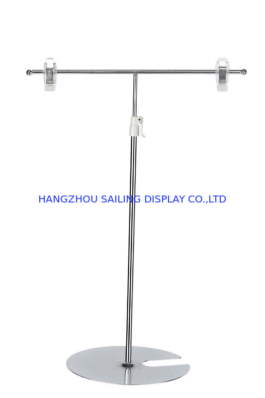 POS Tabletop Sign Holder , Retail Metal Card Display Stand 5mm Iron Pole supplier