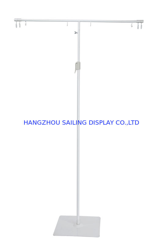Adjustable Height POS Sign Holder Display Stand With White Powder ...