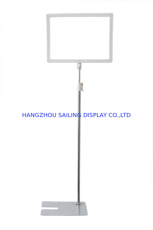 Promotional Floor Standing Sign Holders , A3 Or A4 Metal Bulletin Pop Stand supplier