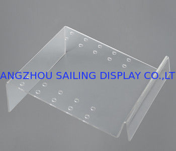 Computer Clear Acrylic Sign Holder For Supermarket / plastic sign holders supplier